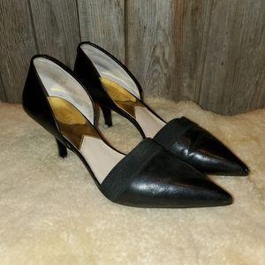 Michael Kors black pointed toe pumps 10M